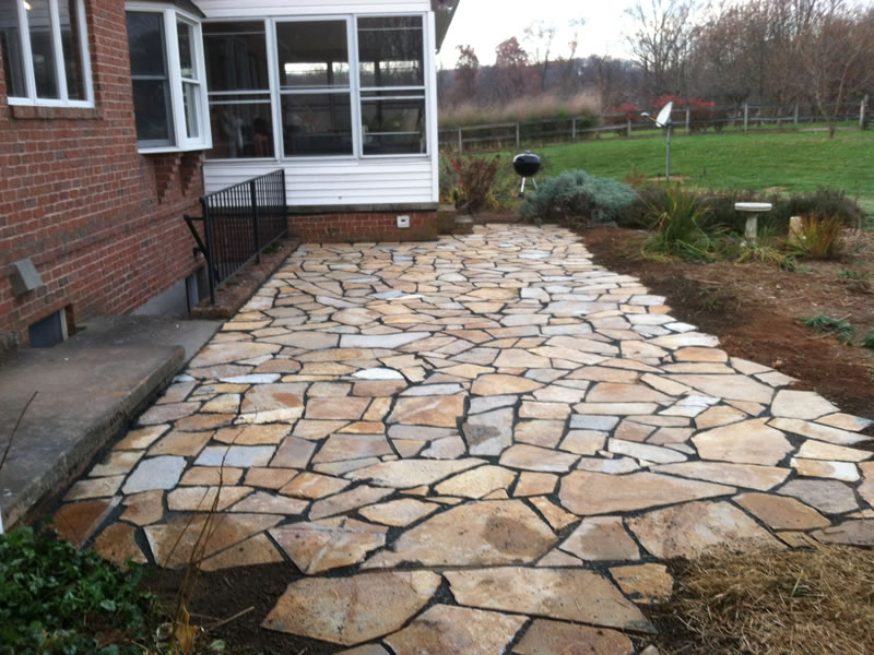 crushed stone patio phase 1 of patio make the home design